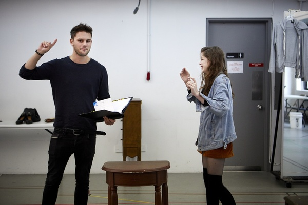Jeremy Irvine and Charlotte Hope