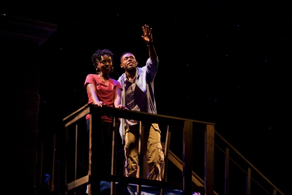 (L to R) Kashayna Johnson as Annie and Vaughn Ryan Midder as Malik in Milk Like Sugar at Mosaic Theater Company of DC, November 2-27, 2016. Photo by Ryan Maxwell.