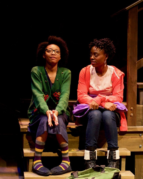 (L to R) Tyasia Velines as Keera and Kashayna Johnson as Annie in Milk Like Sugar at Mosaic Theater Company of DC, November 2-27, 2016. Photo by Ryan Maxwell.