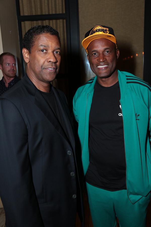 Denzel Washington and Stage  Kenny Leon
