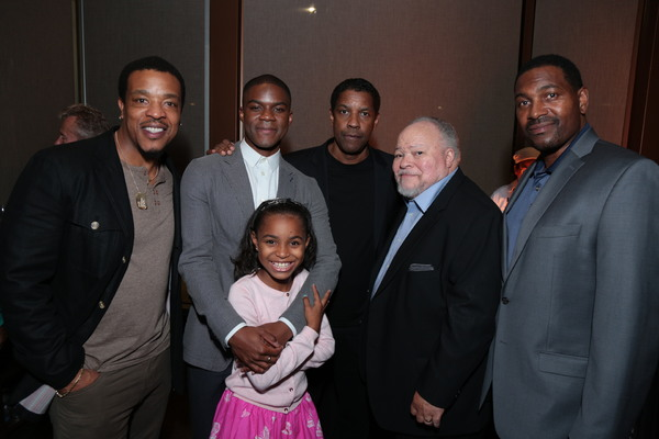 Russell Hornsby, Jovan Adepo, Saniyya Sidney,  Denzel Washington, Stephen Henderson and Mykelti Williamson atre in Low Angeles, CA on November 5, 2016...(Photo: Alex J.