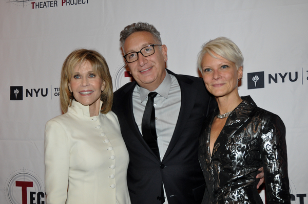 Jane Fonda, Moises Kaufman and Lauren Wainwright