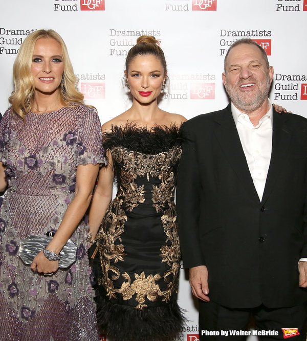 Keren Craig, Georgina Chapman and Harvey Weinstein