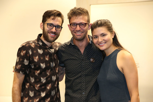 Adam Chanler-Berat, Sam Pinkleton and Phillipa Soo