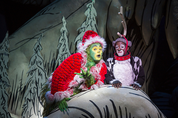 (from left) J. Bernard Calloway as The Grinch and Tyrone Davis, Jr. as Young Max in D Photo