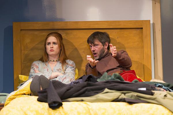 Emma Kaye and Richard Hollis in the Huntington Theatre Company's production of Bedroo Photo