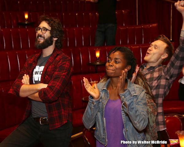 Denee Benton, Josh Groban and Josh Canfield