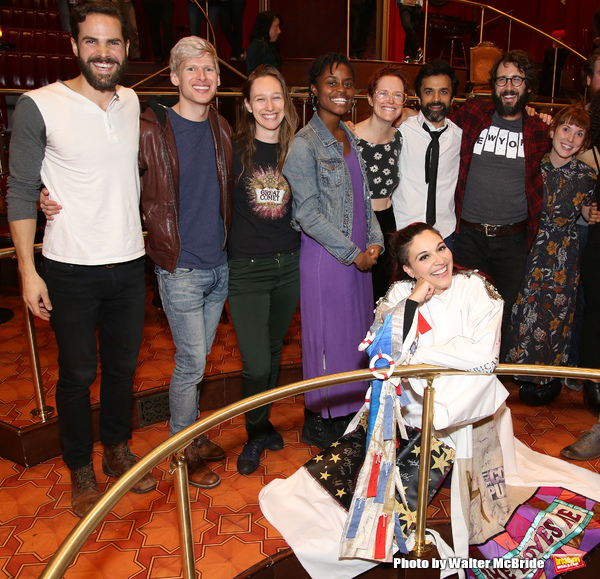 Katrina Yaukey with Nicholas Belton, Lucas Steele, Gelsey Bell, Denee Benton, Nick Choksi, Josh Groban, Brittain Ashford and cast