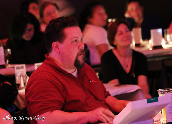 Photo Flash: Justin 'Squigs' Robertson Draws the Stars at Jim Caruso's Cast Party