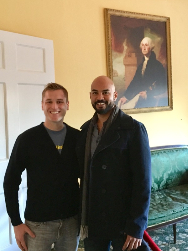 Photo Flash: HAMILTON's George Washington, Nicholas Christopher, Visits Hamilton Grange!