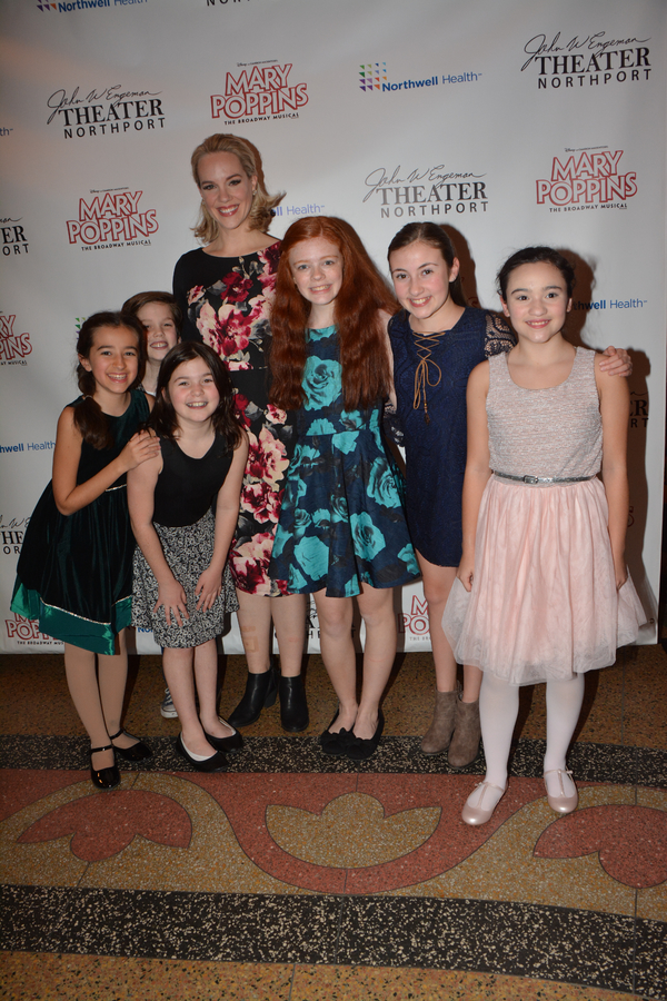 Analisa Leaming with Katherine LaFountain and Christopher McKenna and the girls of the Children's Ensemble-Sophia Guarnaschelli, Sophia Eleni Keklias, Meaghan McInnes and Jacqueline Winslow