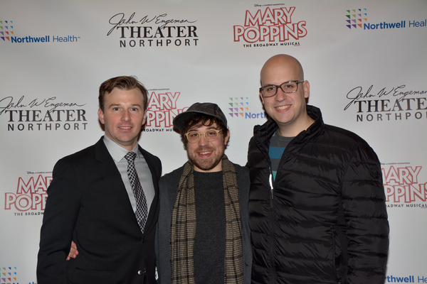 Drew Humphrey with Zach Blaine (Lighting Designer) and Jason Simms (Scenic Designer) Photo