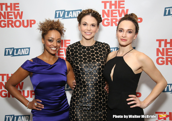 Asmeret Ghebremichael, Sutton Foster and Emily Padgett