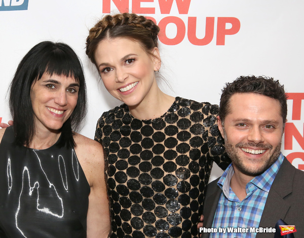Leigh Silverman, Sutton Foster and Joshua Bergasse