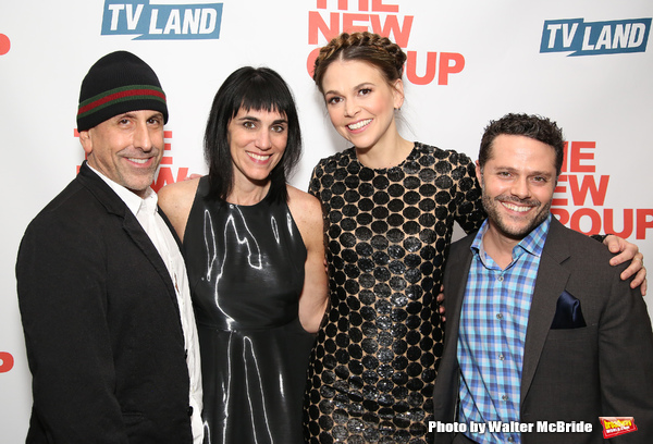 Scott Elliott, Leigh Silverman, Sutton Foster and Joshua Bergasse