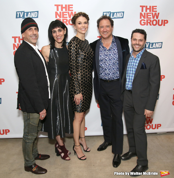Scott Elliott, Leigh Silverman, Sutton Foster, Kevin McCollum and Joshua Bergasse