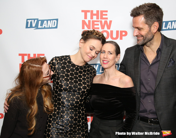 Molly Bernard, Sutton Foster, Miriam Shor and Peter Hermann