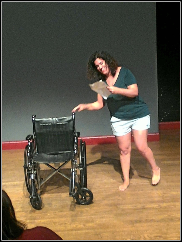 Actress/writer, Stephanie Gould, in the world-premiere performance of Walk With Me at Photo