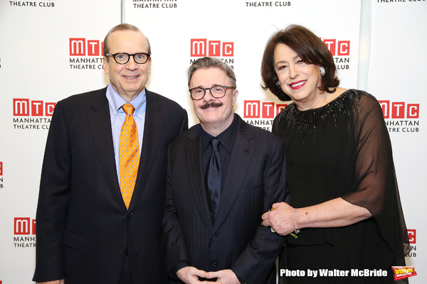 Barry Grove, Nathan Lane and Lynne Meadow