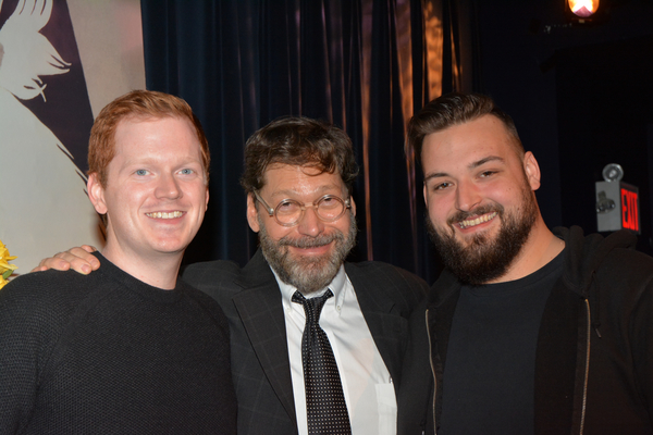 David Staller with tonight's stage managers-Jack Cummins and Alec Rigdon