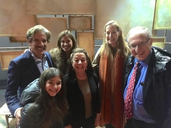 Geraldo Rivera, Alan Dershowitz and Monica Piper