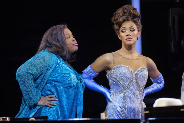 Amber Riley and Lily Frazier