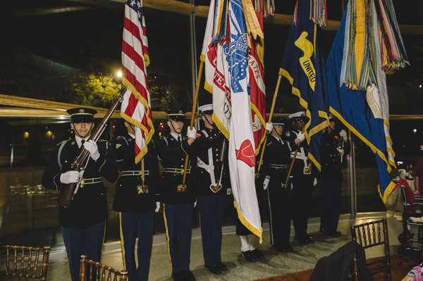 The presentation of the colors at the sixth annual Military Thanksgiving at Arena Stage.