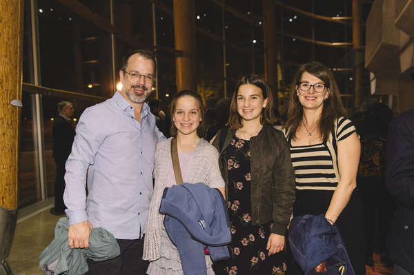 David Catlin (Director and Adaptor) and his wife and daughters