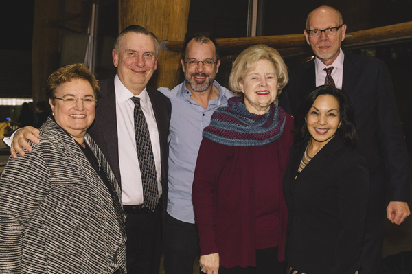 Larry Franks (Arena Stage Trustee), Ellen Berelson, David Catlin (Director and Adaptor), Beth Newburger Schwartz (Arena Stage Board President), Edgar Dobie (Arena Stage Executive Director) and Seema Sueko (Arena Stage Deputy Artistic Director)