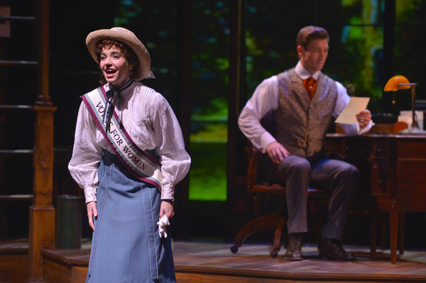 Jerusha Abbott (Hilary Maiberger) describes her fight for women's suffrage in a letter to Jervis Pendleton (Derek Carley)