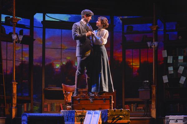 Jerusha Abbott (Hilary Maiberger), and Jervis Pendleton (Derek Carley)  share a special moment
