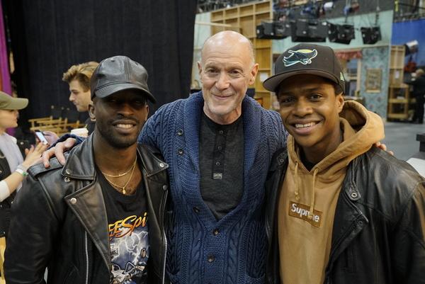 Elijah Kelley, Neil Meron and Ephraim Sykes Photo