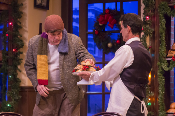 A. D. Players' resident actors Craig Griffin and Ric Hodgin star in the Houston theater troupe's nostalgic Christmas drama O Little Town of Bagels, Teacakes and Hamburger Buns, playing through December 23 at Grace Theater.