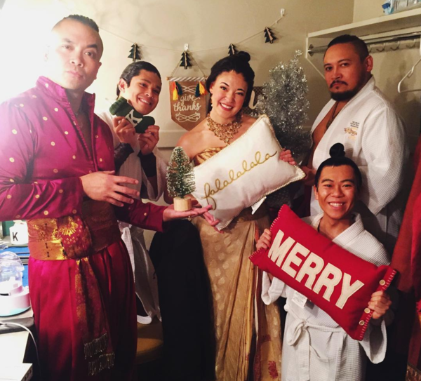 The King and I (National Tour): @chanttt christmas is in full force here at the golden gate theatre in san francisco! we're ready for the presents, the giving, and most importantly, the food. #tkaitour #thekingandi #anthonychannaleonowens #sip #saturdayin