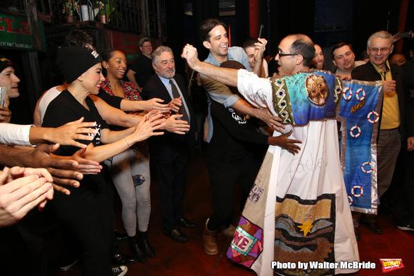 Jonathan Brody with Bobby Conte Thornton, Robert De Niro, Nick Cordero and cast  Photo