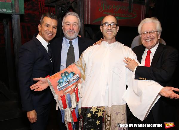 Sergipo Trujillo, Robert De Niro, Jonathan Brody and Jerry Zaks