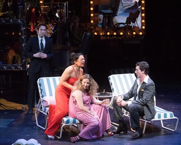 Melody Butiu, Donna Vivino, and Aaron Lazar Photo