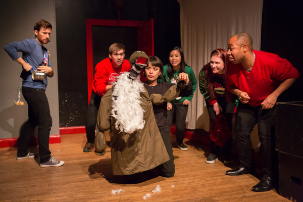 Sonia Mena with puppet | Kyle Schaefer, Evan Maltby, Michelle Vo, Sarah Godwin and Richard Sears