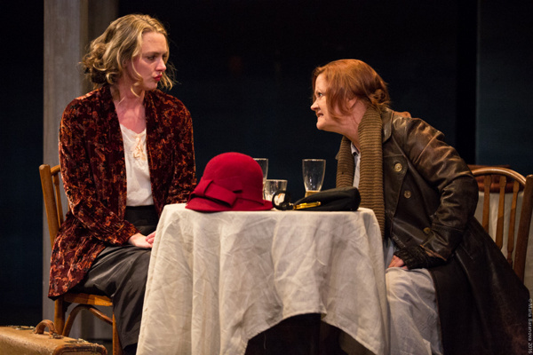 L to R: Therese Plaehn and Tina Johnson in ANNA CHRISTIE, directed by Peter Richards. Photo by Maria Baranova.