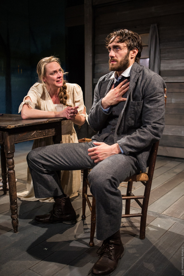 L to R: Therese Plaehn and Ben Chase in ANNA CHRISTIE, directed by Peter Richards. Photo by Maria Baranova.