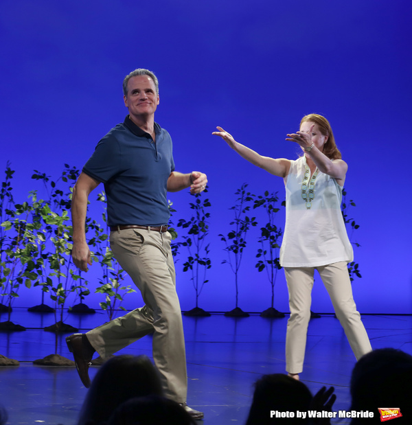 Michael Park and Laura Dreyfuss