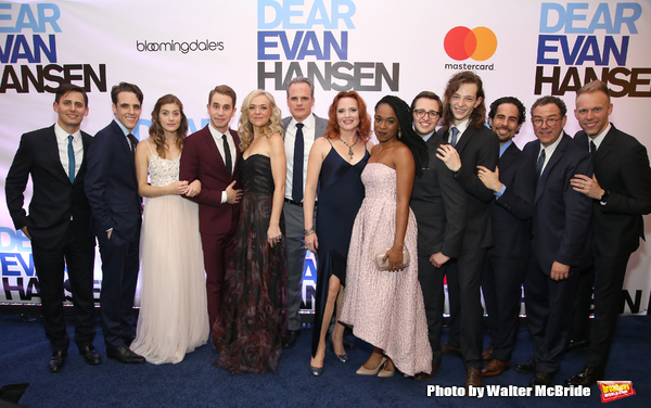 Benj Pasek, Steven Levenson, Laura Dreyfuss, Ben Platt, Rachel Bay Jones, Michael Park, Jennifer Laura Thompson, Kristolyn Lloyd, Will Roland, Mike Faist, Alex Lacamoire, Michael Greif and Justin Paul