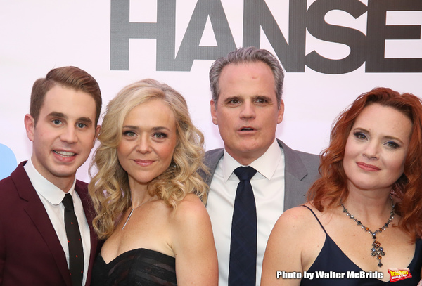 Ben Platt, Rachel Bay Jones, Michael Park and Jennifer Laura Thompson