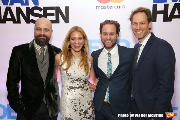 Peter Nigrini, Emily Rebholz,Japhy Weideman and David Korins  Photo