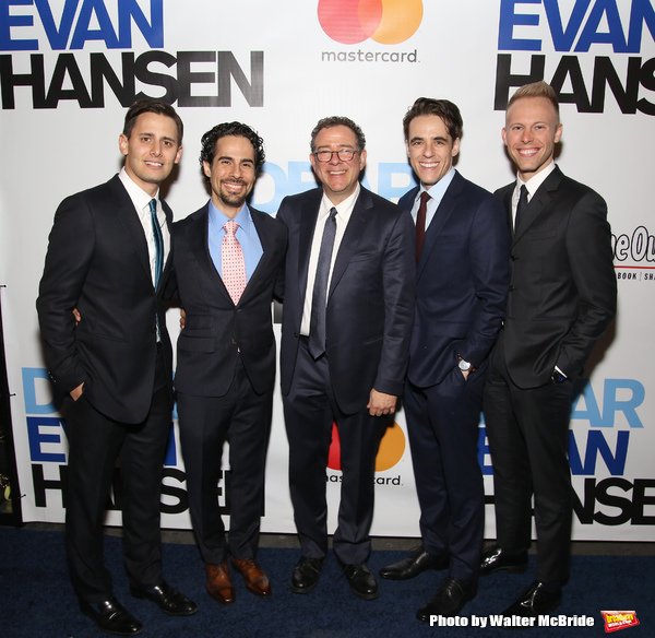 Benj Pasek, Alex Lacamoire, Michael Greif, Steven Levenson and Justin Paul