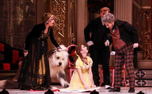Melody Mennite as Clara and the cast of The Nutcracker