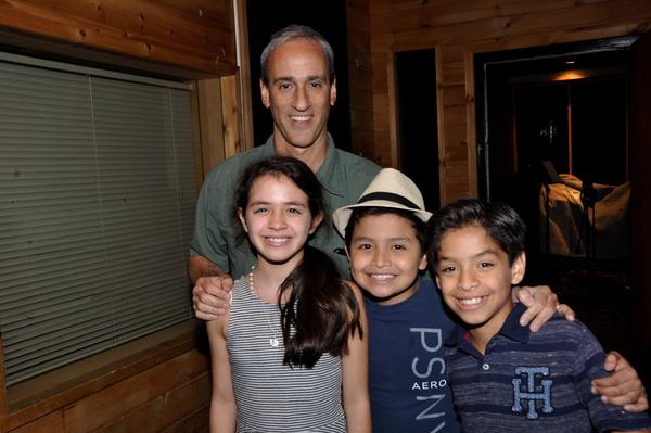 Fabi Aguirre, Eduardo Hernandez and Kevin Tellez with Lon Hoyt