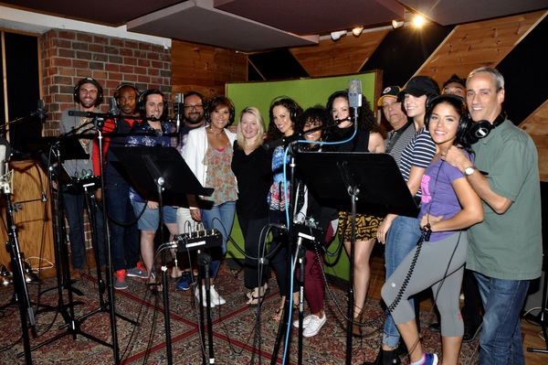 Lynn Pinto and Andros Rodriguez with the cast-David Baida, Doreen Montalvo, Angelica  Photo