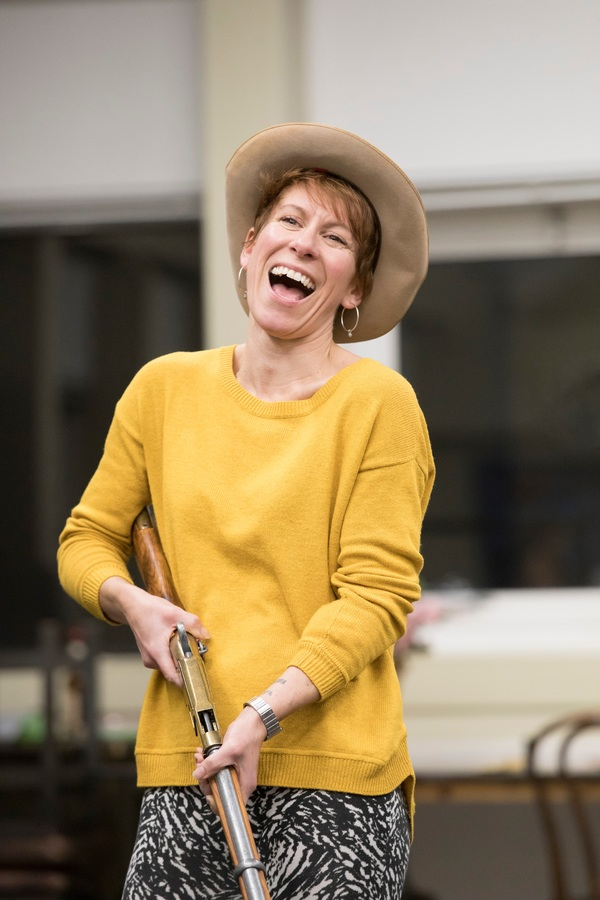Photo Flash: See Anna-Jane Casey and Ben Lewis in Rehearsals for ANNIE GET YOUR GUN