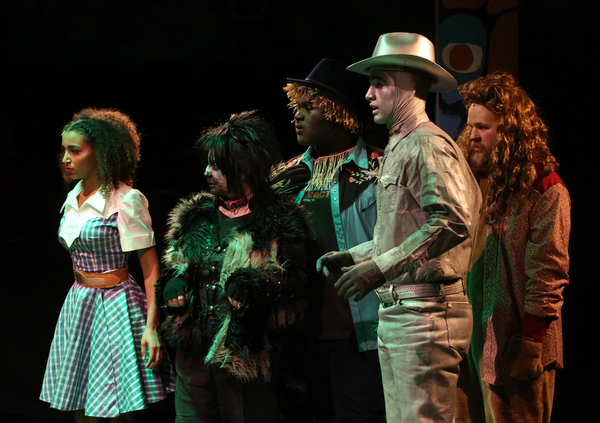 Maryann Williams (Dorothy), Genevieve Allenbury (Toto 2), Cameron Khalil Stokes (William), Jeremy Gee (Aloysious), Joe Serpa Daniels (Leo)